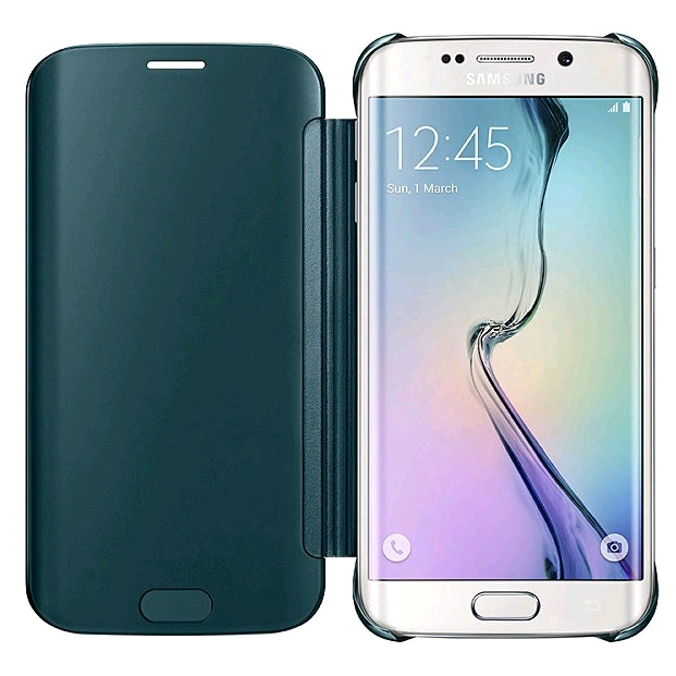 official photos 740a8 9016c Samsung Clear View Cover for Samsung Galaxy S6 edge Green