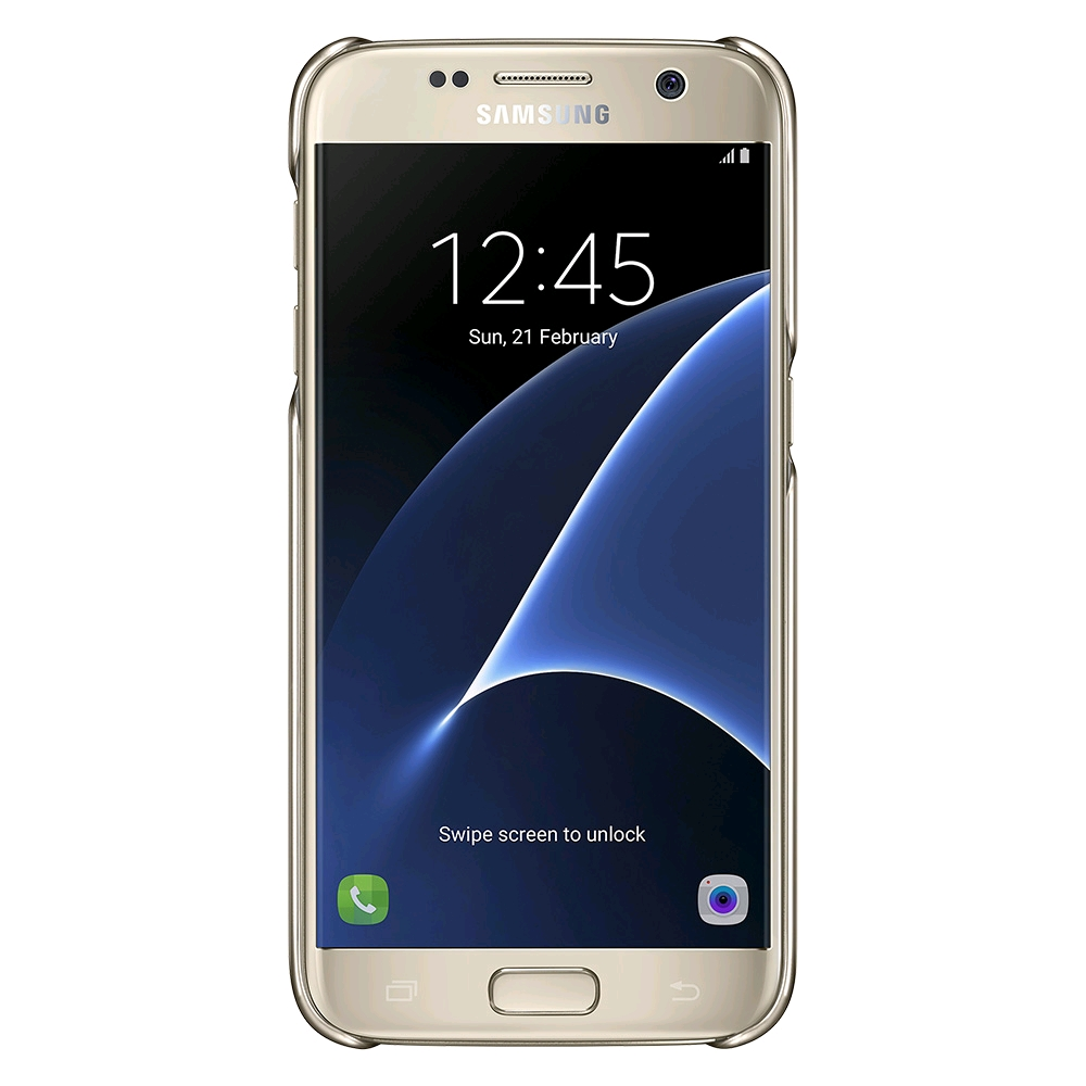 Samsung Clear Cover for Galaxy S7 (Gold) - SAMSUNG UK