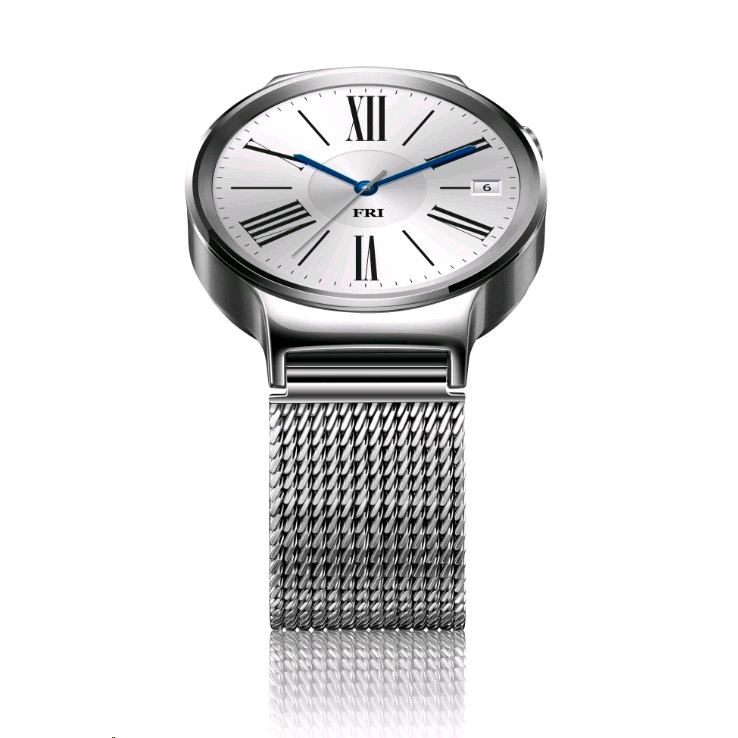 Steel Mazak Company New Zealand: Huawei Watch Silver Stainless Steel (with Silver Mesh Band