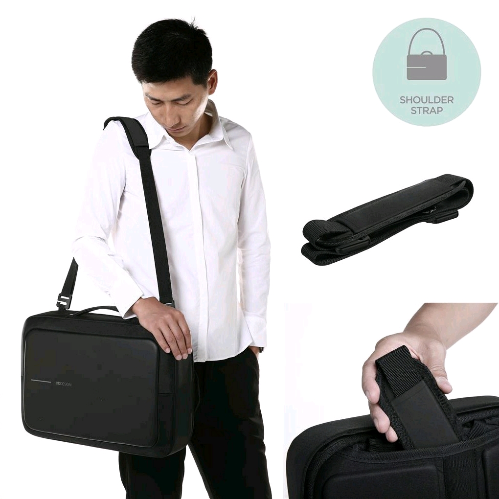 2f8d7baf3d3 XD Design Bobby Bizz Anti-theft Backpack/Briefcase (Black) - EXPANSYS  Singapore