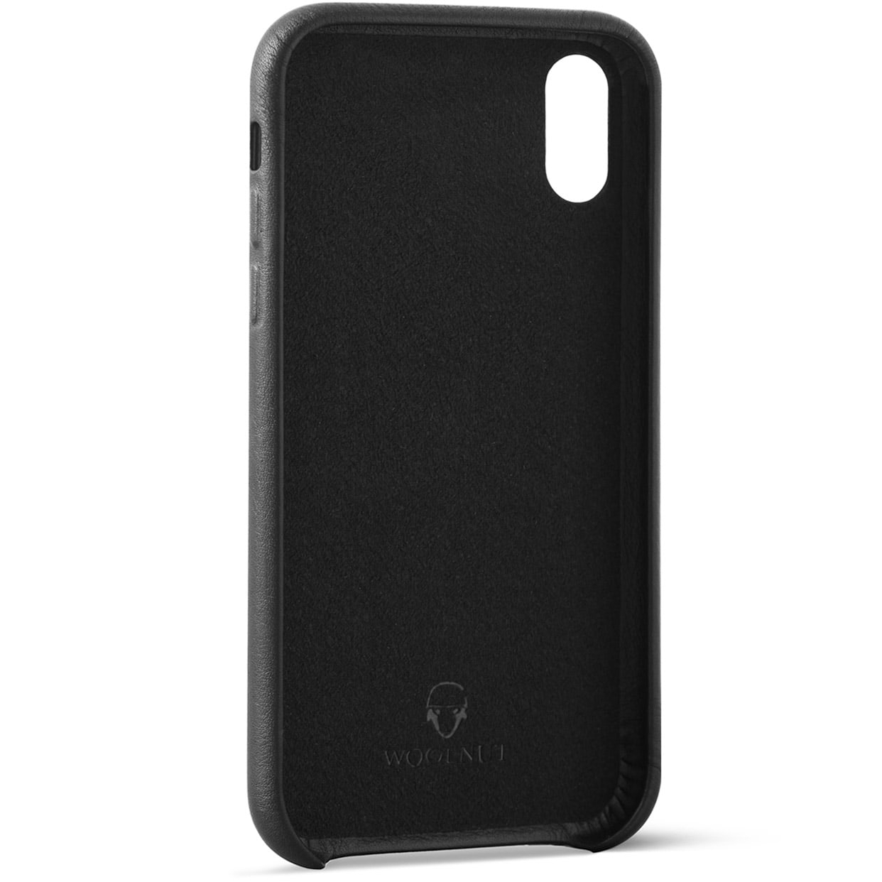 official photos 7ba43 95f39 Woolnut iPhone Xs Max Premium Soft Case Nappa Leather, Black