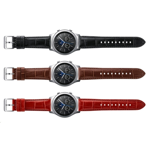 Samsung Gear S3 Aligator Grain Leather Band - (3)