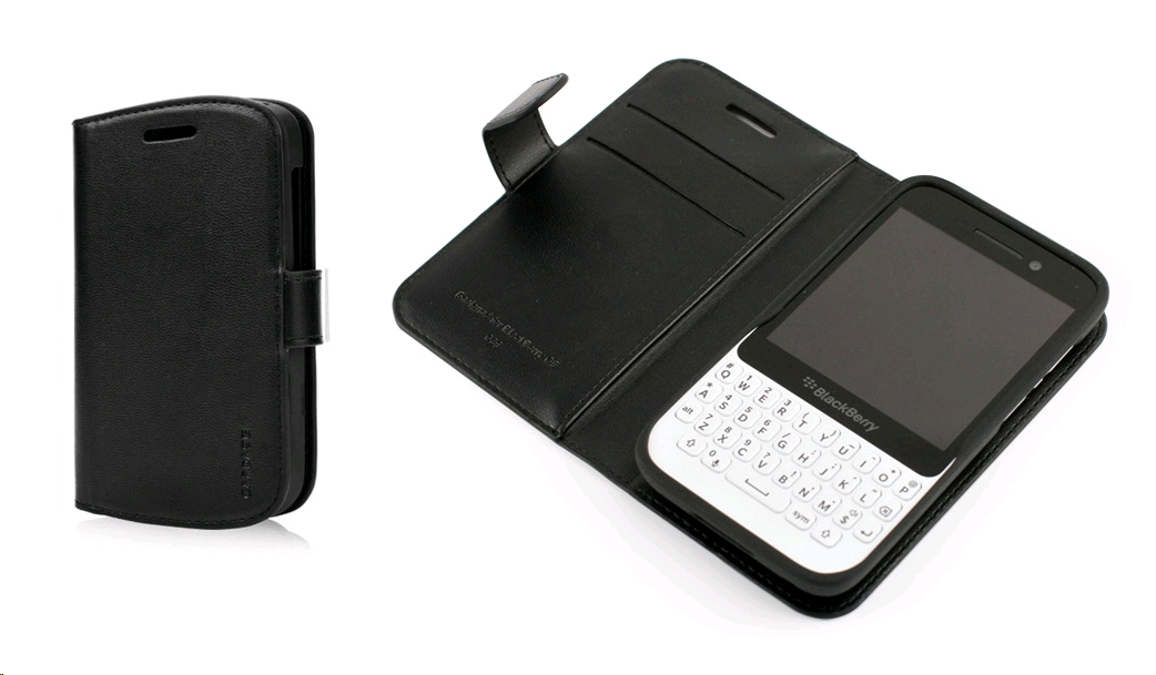 official photos 28c03 40a39 CAPDASE Folder Case – Sider Classic for BlackBerry Q5 Black