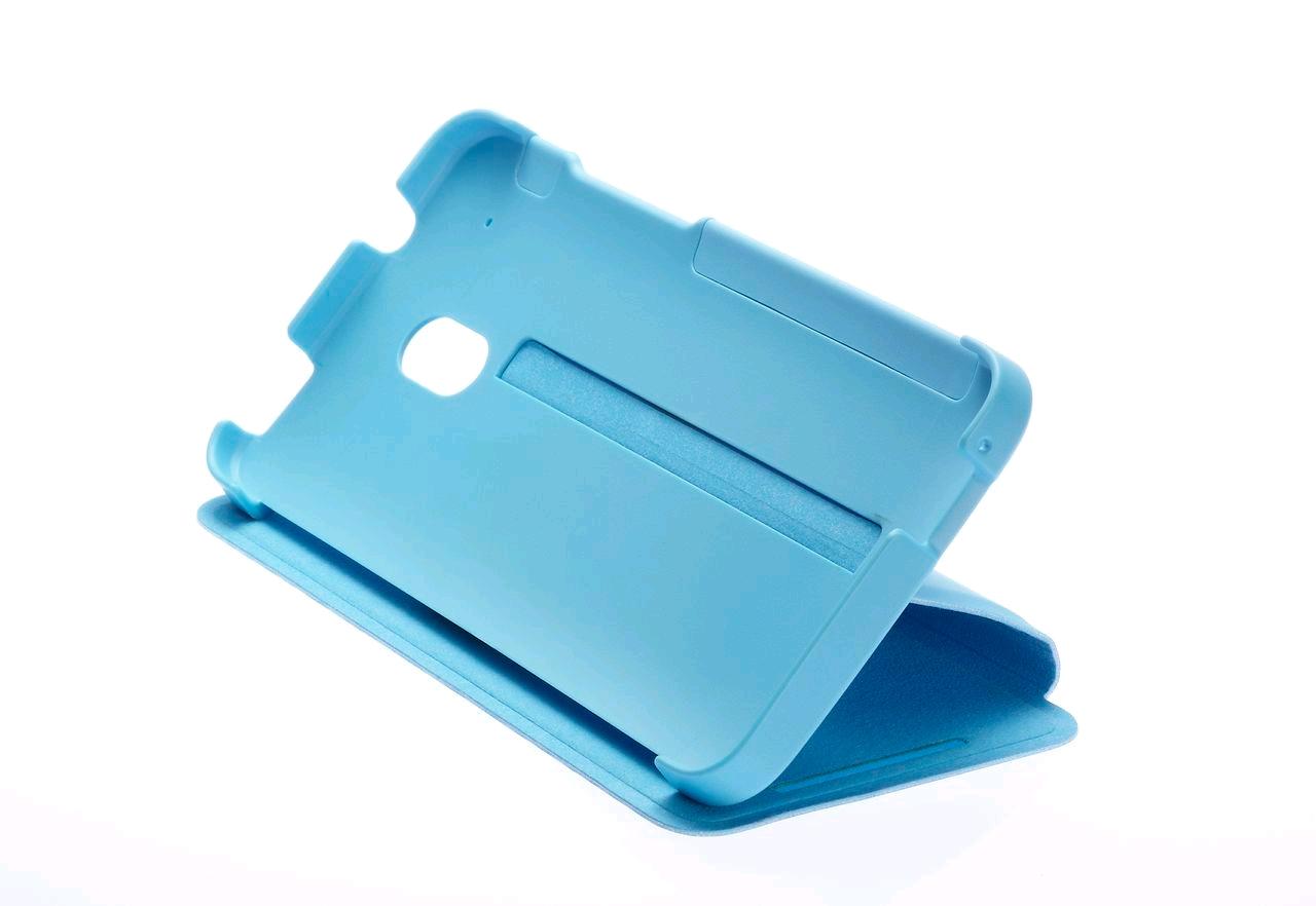 Case Blue Mini Pack : Htc one mini double dip flip case with stand hc v851 light blue