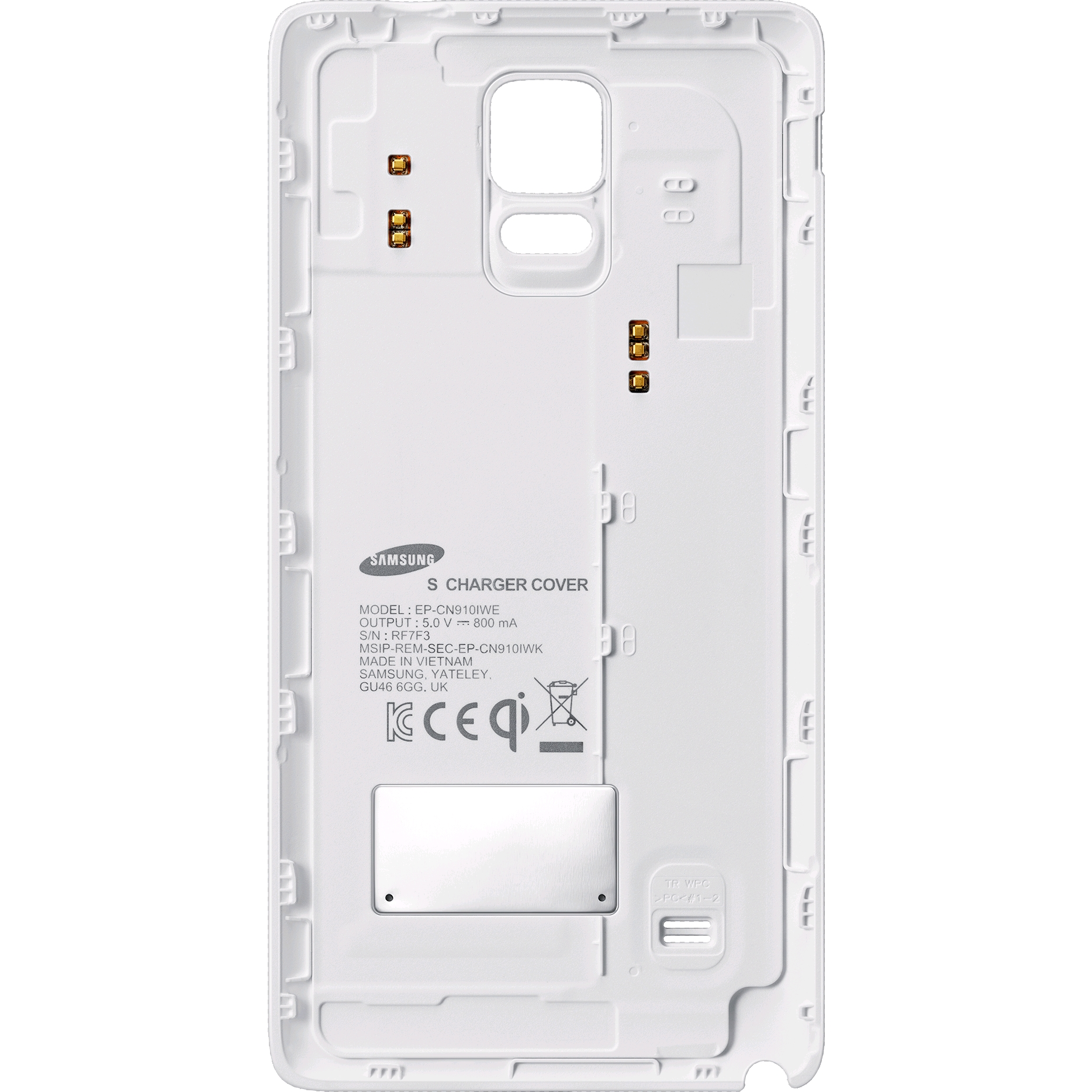 big sale 57069 77501 Samsung Wireless Charging Cover for Galaxy Note 4 White
