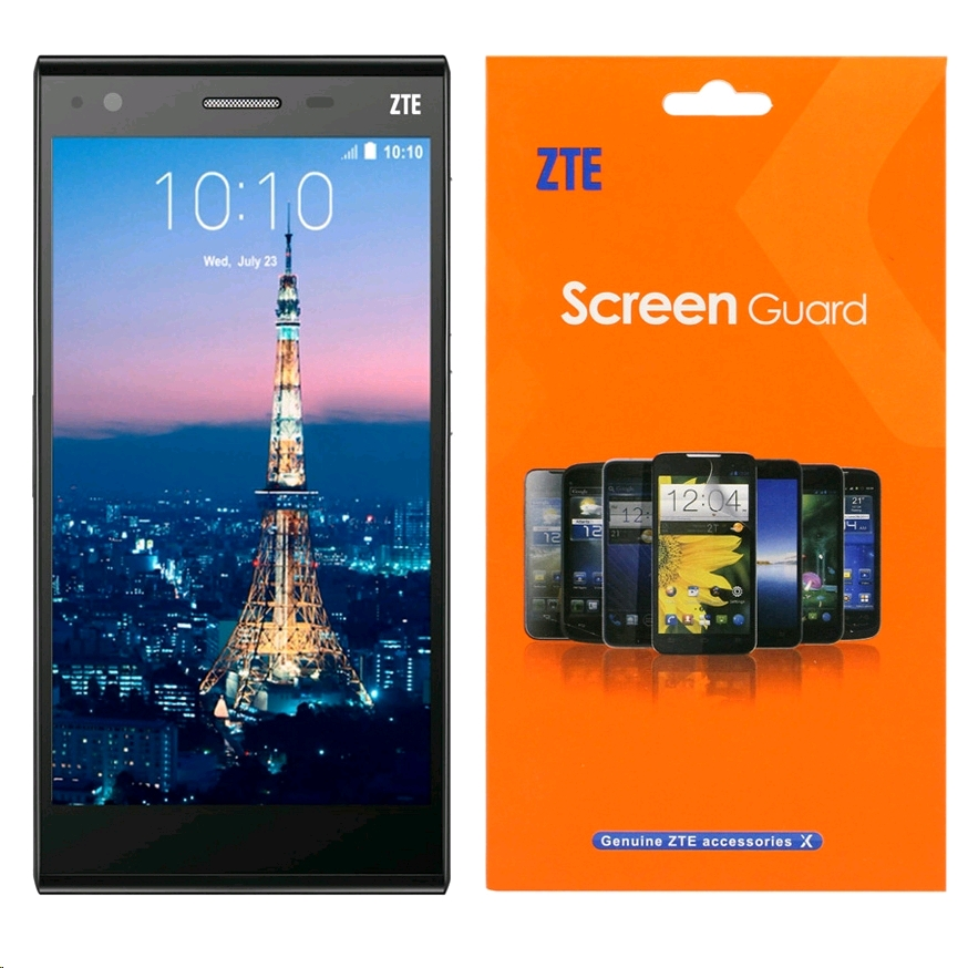ZTE Blade Vec 4G Unlocked, LTE, 16GB, Black with Free Screen Protector