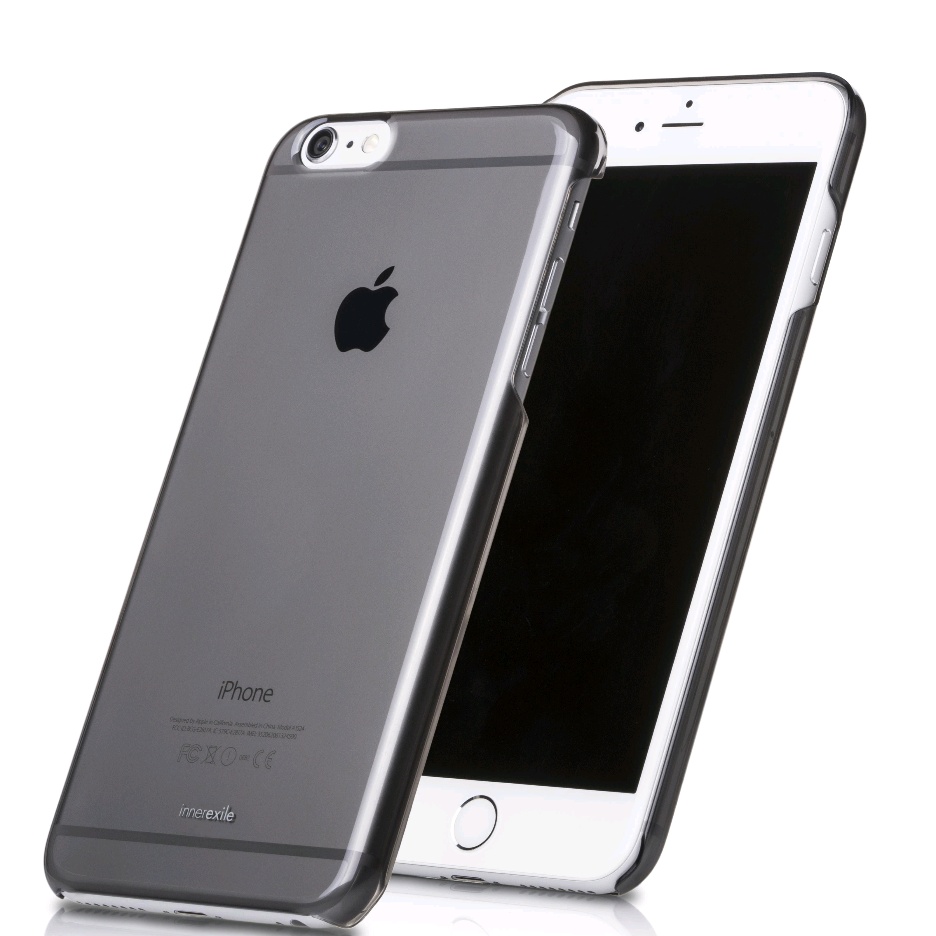 pretty nice c85c9 2212a innerexile Hydra case for Apple iPhone 6s Plus/6 Plus Self-healing  protective case, Transparent Black
