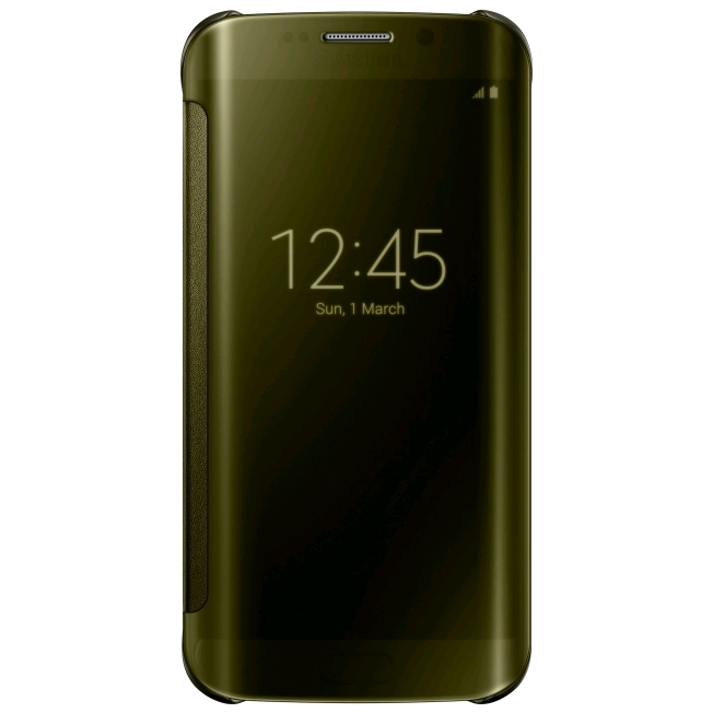 huge selection of e0140 bb870 Samsung Clear View Cover for Samsung Galaxy S6 edge Gold