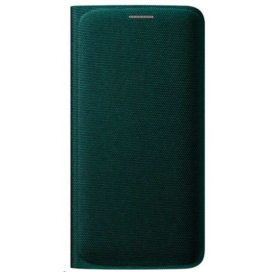 half off 9b06e 1e5d7 Samsung Flip Wallet for Samsung Galaxy S6 edge Fabric, Green