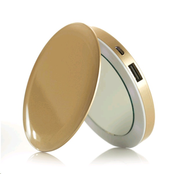 Pearl Compact Mirror Amp Usb Rechargeable Battery Pack