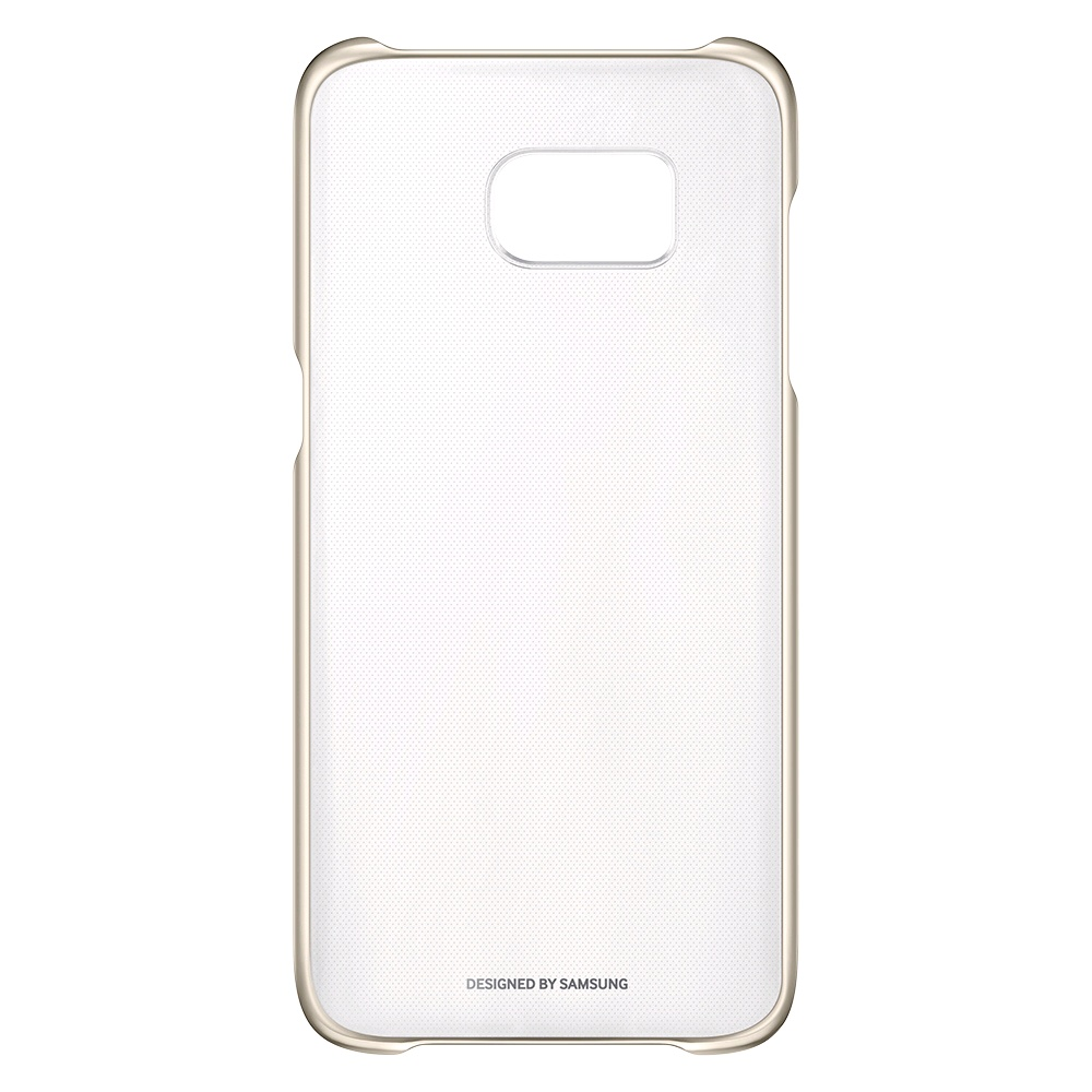 online retailer 95a5a 3ed3e Samsung Galaxy S7 Clear Cover EF-QG930 (Gold) - EXPANSYS Singapore