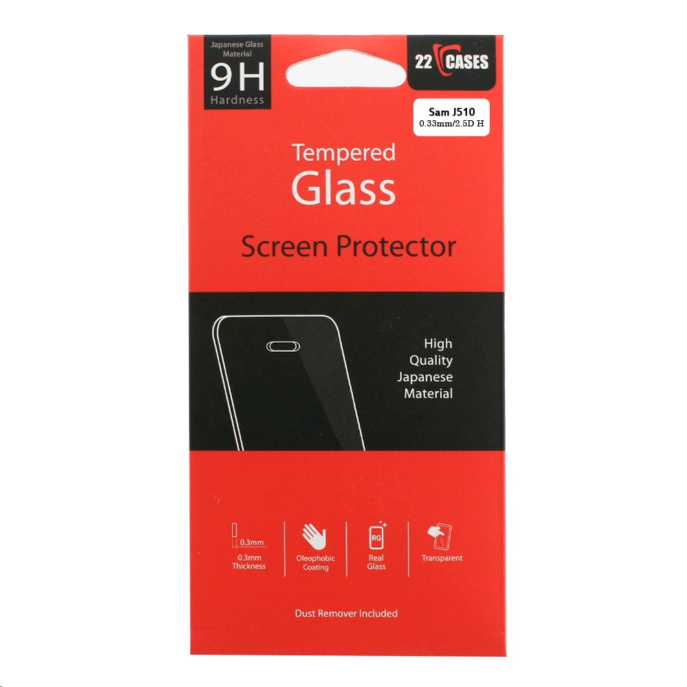 22 Cases Screen Protector for Samsung Galaxy J5 (2016) Tempered Glass