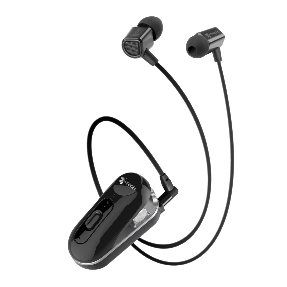 i Tech Clip II Mini Music Edition Stereo headset pack, Black