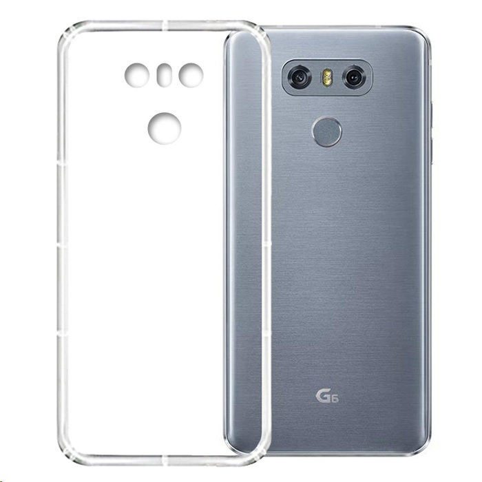 pretty nice 13e81 d7df3 XBase Soft TPU Airpillow Case for LG G6 Clear/Transparent