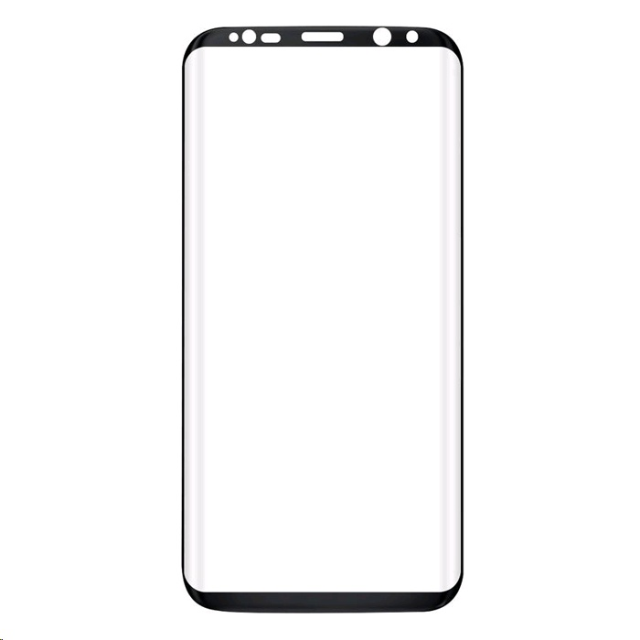 new concept 6ae5c b818a XBase Tempered Glass Screen Protector for Samsung Galaxy Note8 Full  Coverage, Curved Edge, Black