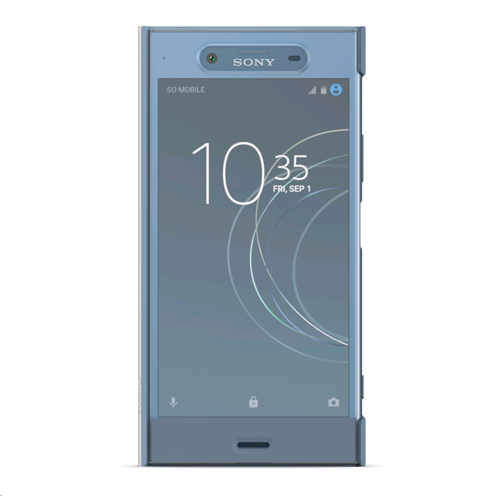 half off e7f53 ec2aa Sony Style Cover Touch SCTG50 for Xperia XZ1 Blue, Special Offer