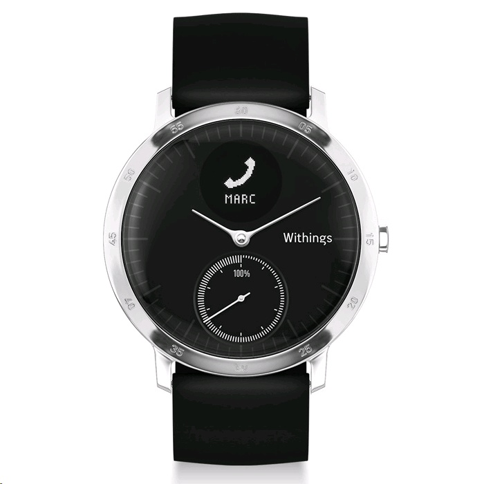 B-Stock Withings Steel HR (40mm Case, Black Face, Open box