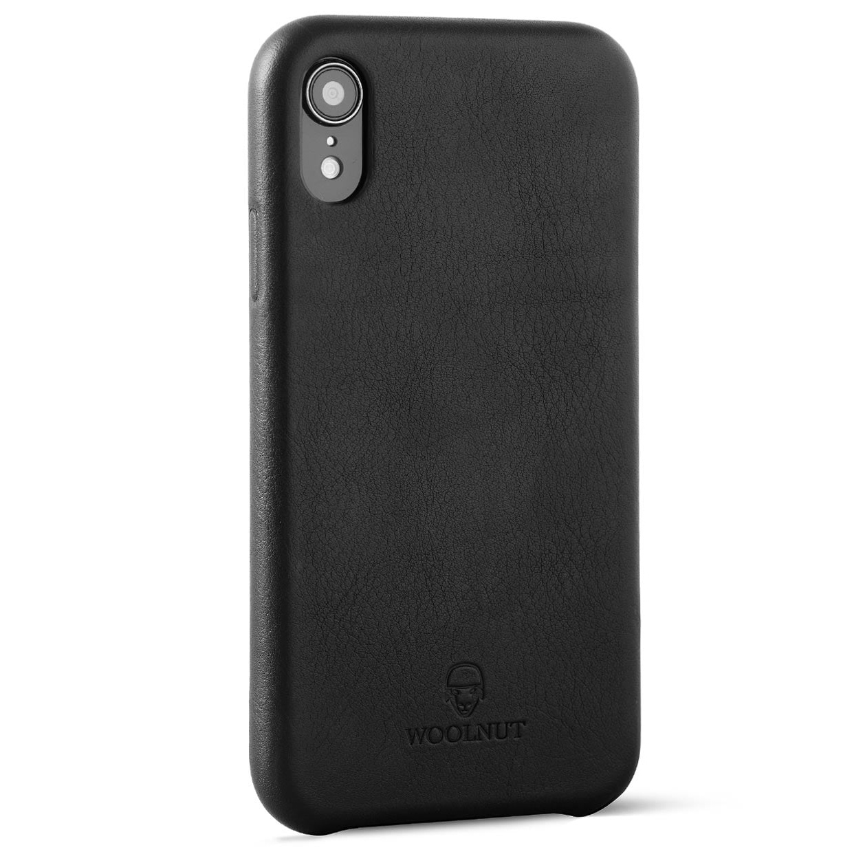 outlet store 0d01f 118f7 Woolnut iPhone XR Premium Soft Case Nappa Leather, Black