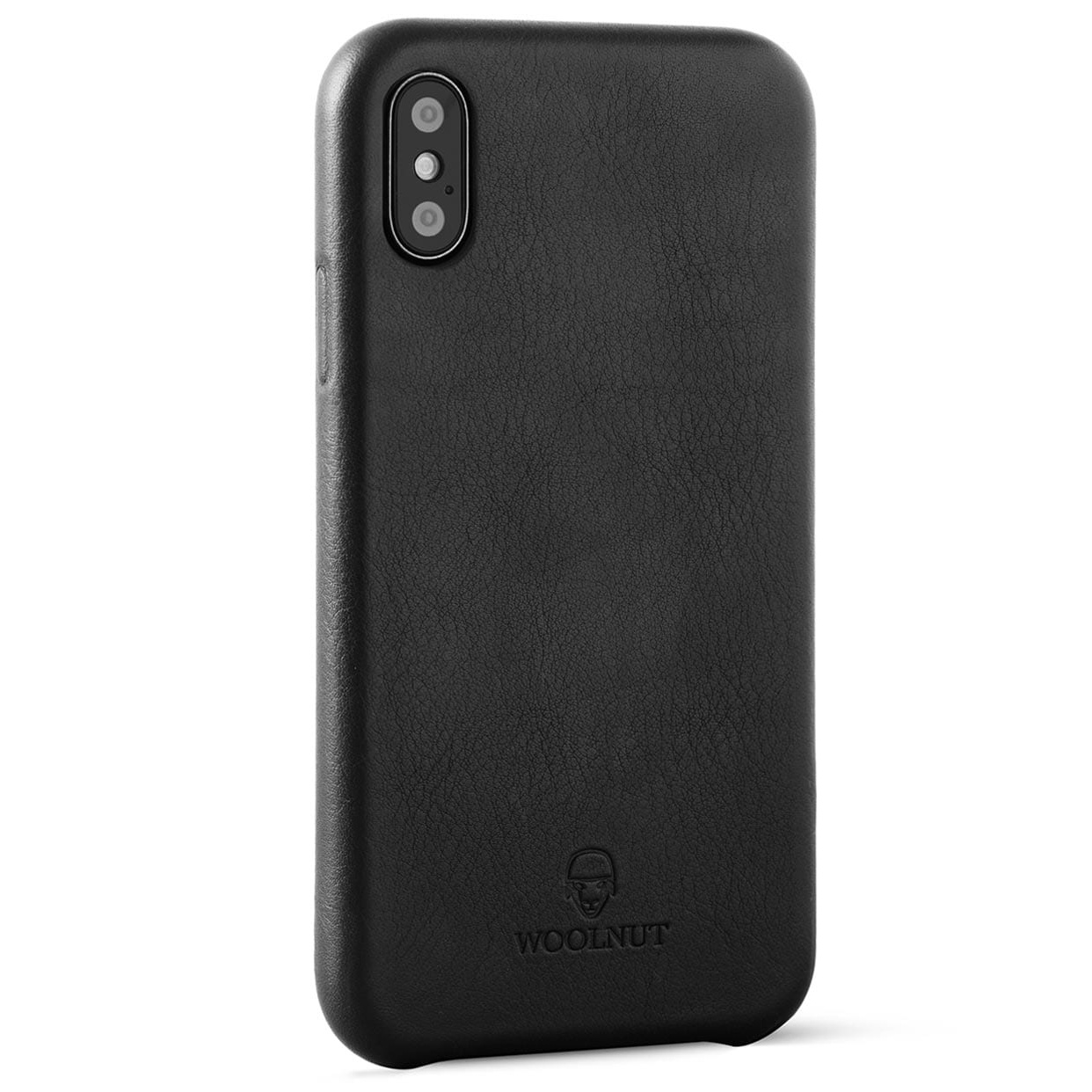 timeless design 64d2b 1e383 Woolnut iPhone Xs / X Premium Soft Case Nappa Leather, Black