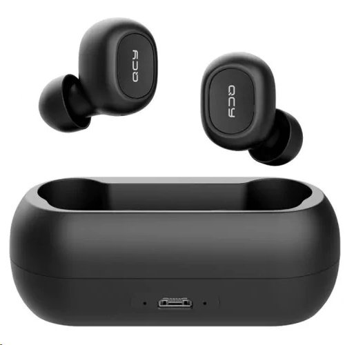 f5d1f886aef QCY T1C True Wireless Earphones with Charging Case (Black) - EXPANSYS  Australia