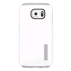 Incipio Galaxy S6 DualPro Shine Protective Case (GP-G920ICCPCAU, White/Light Grey)