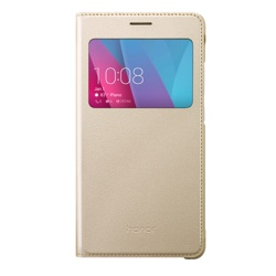 Honor 5X View Flip Cover Funda Dorado
