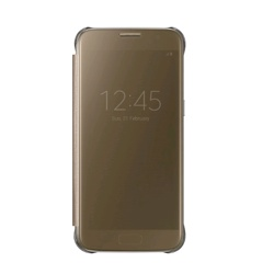 Samsung Clear View Cover for Galaxy S7 (EF-ZG930CFEGWW, Gold)