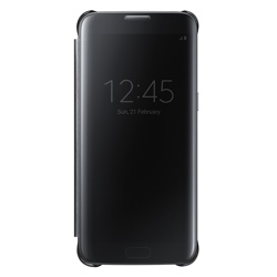 Samsung Clear View Cover for Galaxy S7 edge (EF-ZG935CBEGWW, Black)