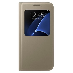 Samsung S View Cover for Galaxy S7 (EF-CG930PFEGWW, Gold)