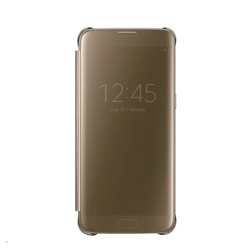 Samsung Clear View Cover for Galaxy S7 edge (EF-ZG935CFEGWW, Gold)