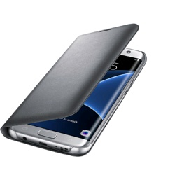 Samsung LED Flip Cover for Galaxy S7 edge (EF-NG935PSEGWW, Silver)