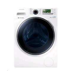 Samsung WD8000 Washer Dryer with ecobubble, 12 kg (White, WD12J8400GW/EU)
