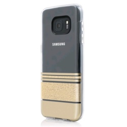 Incipio Design Series Wesley Stripes for Galaxy S7 (GP-G930ICCPYAD, Gold)