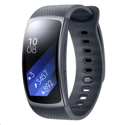 Samsung Gear Fit2 (SM-R3600DAABTU, Black, Large Strap)
