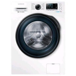 Samsung WW6000 Washing Machine with ecobubble, 8 kg (WW80J6410CW/EU, White)