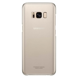Samsung Galaxy S8 Clear Cover (EF-QG950CFEGWW, Gold)