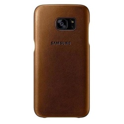 Samsung Galaxy S7 Leather Cover (EF-VG930LDEGWW, Brown)