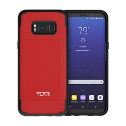 Samsung Galaxy S8+ Tumi Leather Co-Mould Case (GP-G955ICCPHAC, Red)