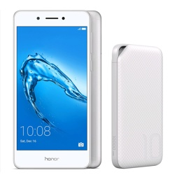 Honor 6C, Silver & Free Huawei 10000mAh Power Bank, white WEU, 32GB