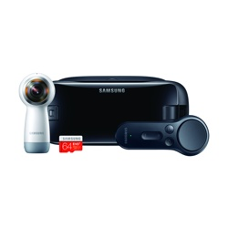 Samsung Gear VR with Controller, Gear 360 and 64 GB EVO Plus microSD Card (2017, SM-R325NZVABTU)