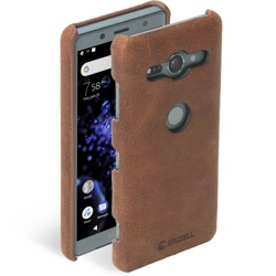 Krusell Sunne Cover Sony Xperia XZ2 Compact Vintage Cognac