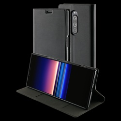 Roxfit Xperia 1 Slim standing Book Case with wake function in black