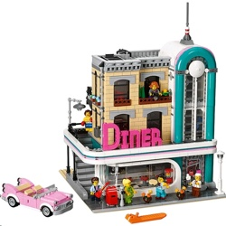 Lego 10260 Creator Expert Downtown Diner Building Kit
