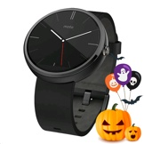 Motorola moto 360 Dark Steel Case 22mm, Black Band