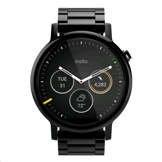 Motorola Moto 360 (2nd Gen.) Mens 46mm Black Case, Black