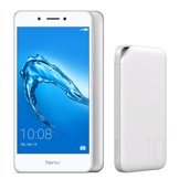 Honor 6C, Silver & Free Huawei 10000mAh Power Bank, white