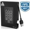 Apricorn Aegis Fortress HDD 3.0 - 1TB (256-bit AES-XTS エンクリプト, FIPS 140-2 Level 2)