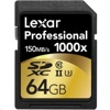 Lexar 1000X SDXC 記憶卡 (64GB, 150MB/s read, 90MB/s write)