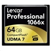 Lexar 1066X Professional CompactFlash Card (64GB, 160MB/s read, 155MB/s write)