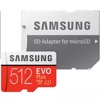Samsung EVO Plus 512 GB Micro SD R100W90 (Up to 100MB/s read, 90MB/s write, w/adapter)